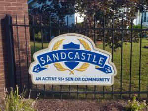 Sandcastle entrance sign